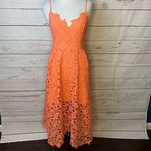 ASTR cantaloupe colored dress